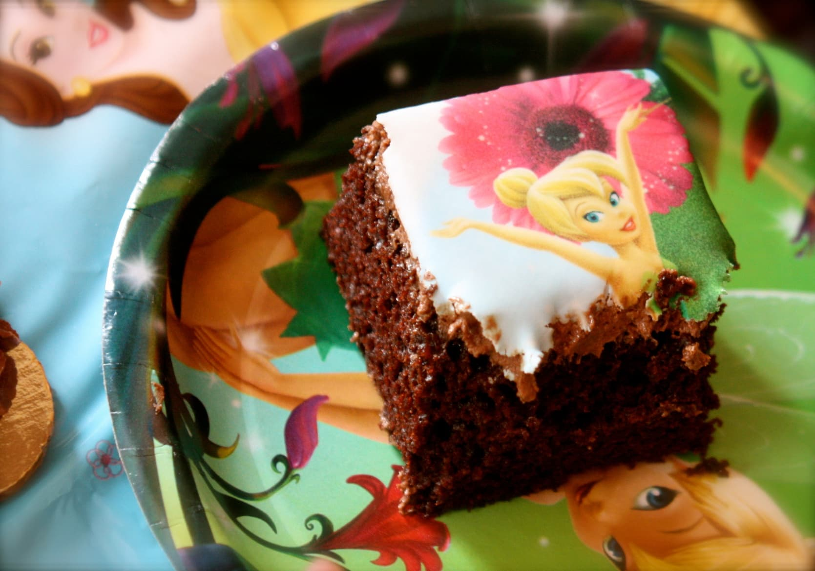 Chocolate Cake with Edible Image- Dairy, Egg and Nut-Free | speedbumpkitchen.com