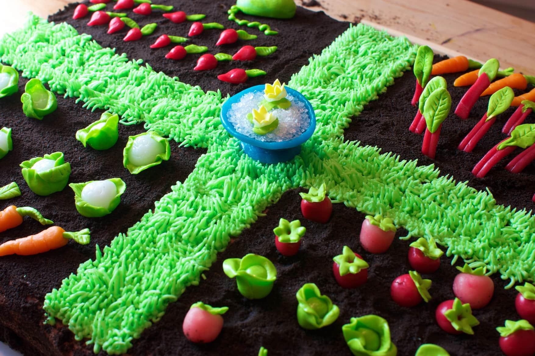 Spring Garden Cake - Speedbump Kitchen