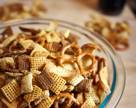 Chex Mix- Dairy, egg, nut-free| speedbumpkitchen.com