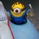 X-Wing Fighter Cake, With Minions.