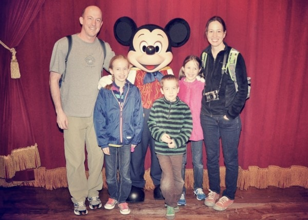 Family pictures with Mickey Mouse