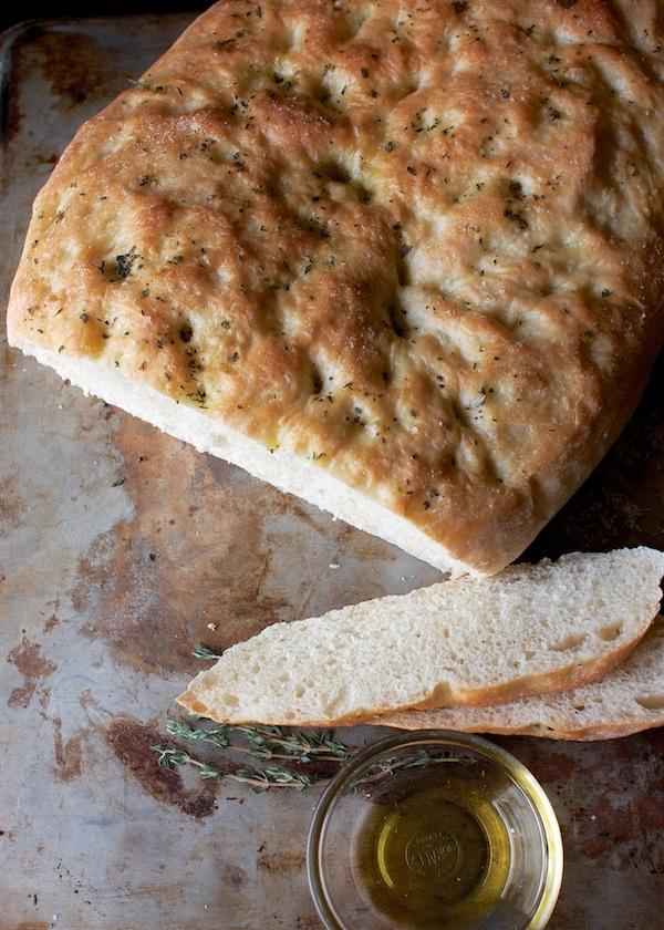 Herbed Focaccia: Dairy & Egg-Free, Vegan |  www.speedbumpkitchen.com
