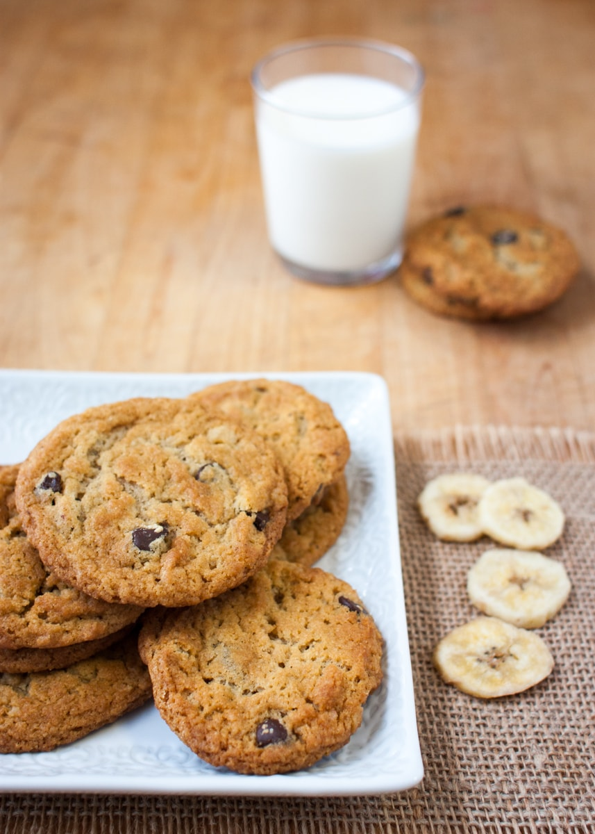 Chocolate & Banana Chip Cookies: Dairy-Free, Egg-Free, Vegan | www.speedbumpkitchen.com