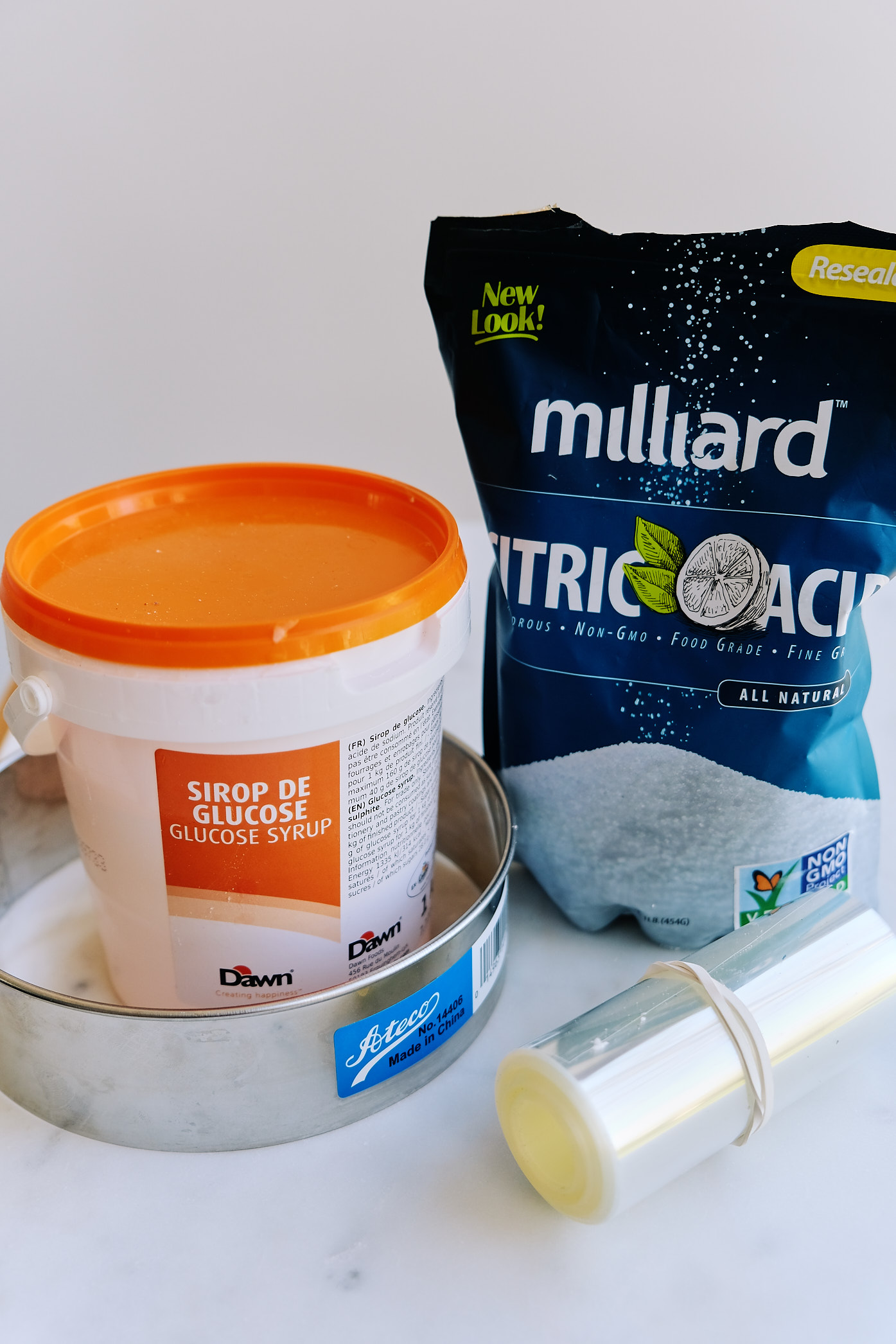 Ingredients needed for a dairy-free egg-free Milk Bar Birthday Cake.